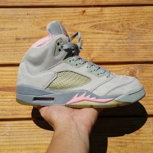 Nike Air Jordan 5 Stealth Shy Pink Basketball Shoe